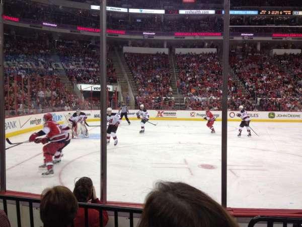 PNC Arena, secção: 107, fila: d, lugar: 4