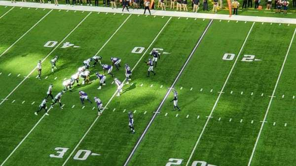 U.S. Bank Stadium, secção: 338, fila: D, lugar: 11