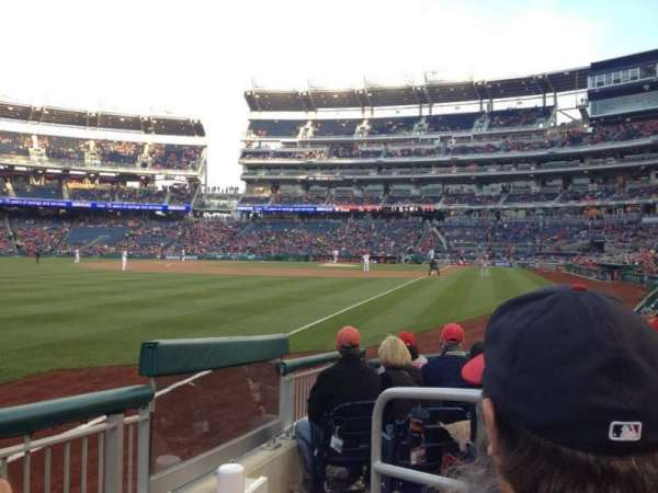 Nationals Park, secção: 108, fila: H, lugar: 1
