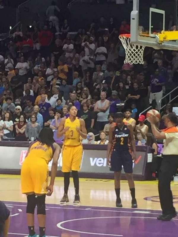 Staples Center, secção: 109, fila: 3, lugar: 6