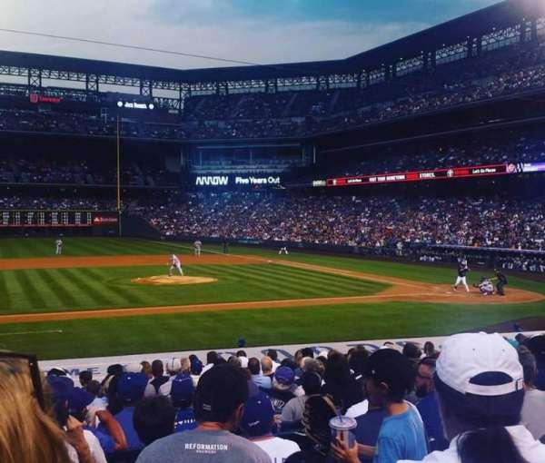 Coors Field, secção: 138, fila: 20, lugar: 11