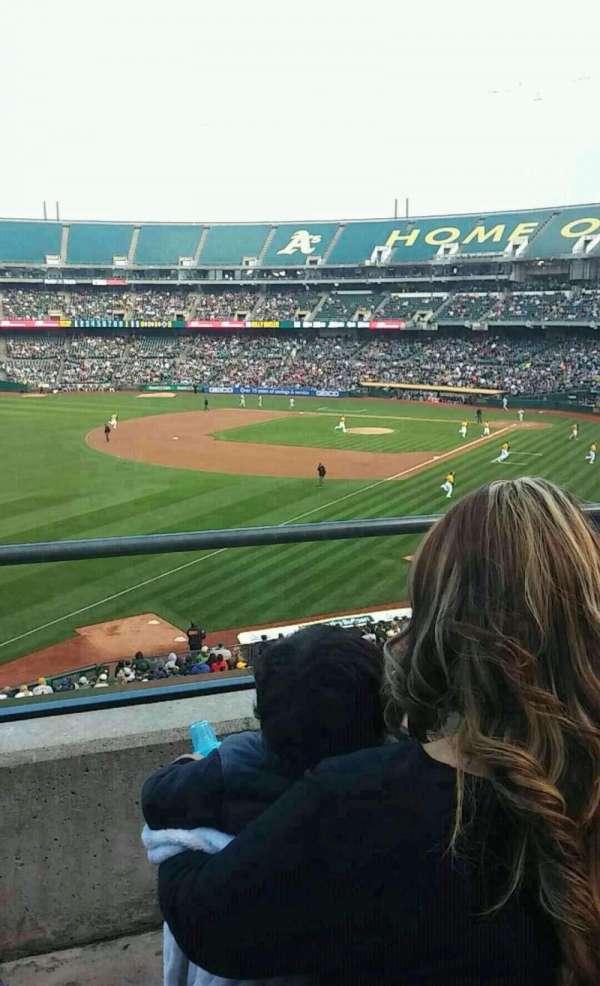 Oakland Coliseum, secção: 229, fila: 2, lugar: 21
