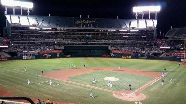 Oakland Coliseum, secção: 218, fila: 3, lugar: 21