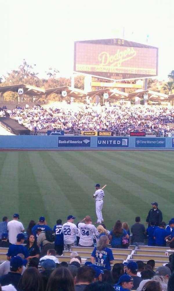 Dodger Stadium, secção: 43fd, fila: s, lugar: 1-2
