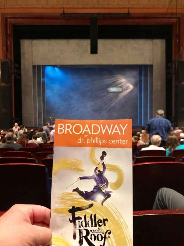 Walt Disney Theatre - Dr. Phillips Center, secção: Lower Orchestra C, fila: P, lugar: 109