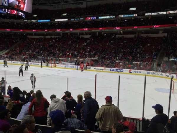 PNC Arena, secção: 116, fila: K, lugar: 1
