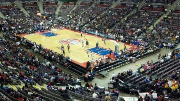 The Palace of Auburn Hills, secção: 226, fila: 1, lugar: 11