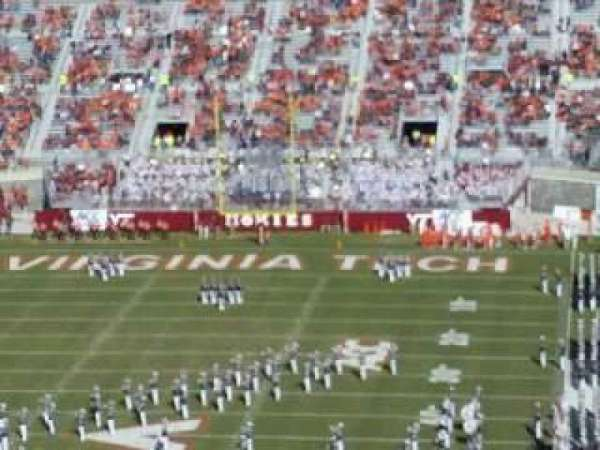 Lane Stadium, secção: 503, fila: DD, lugar: 23