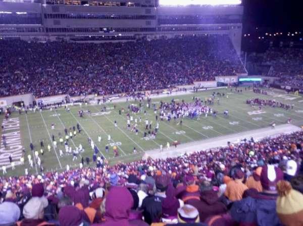 Lane Stadium, secção: 37, fila: 4G, lugar: 22