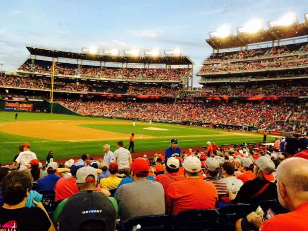 Nationals Park, secção: 113, fila: U, lugar: 9