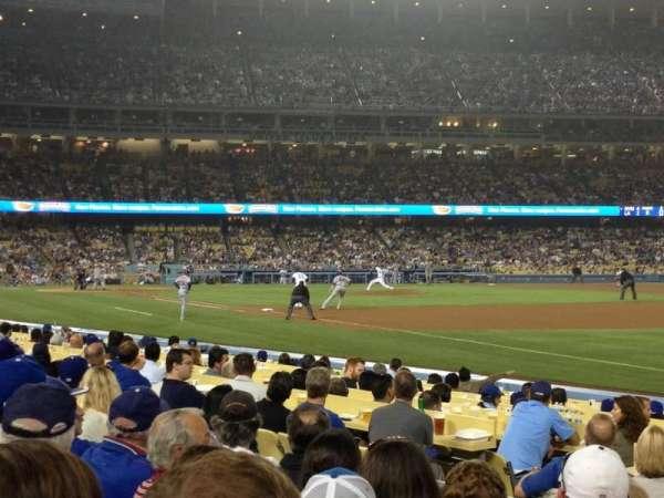 Dodger Stadium, secção: 40FD, fila: E, lugar: 1