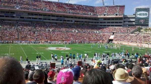 Raymond James Stadium, secção: 134, fila: Bb, lugar: 15