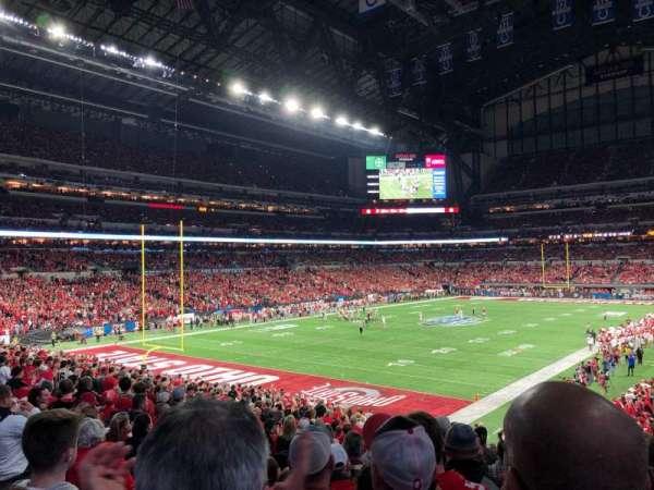 Lucas Oil Stadium, secção: 148, fila: 29N, lugar: 35