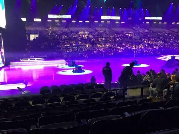 Royal Farms Arena, secção: 105, fila: E, lugar: 7