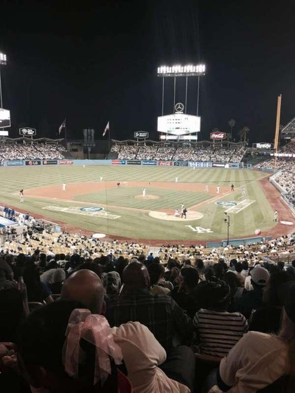 Dodger Stadium, secção: 109LG, fila: P, lugar: 3