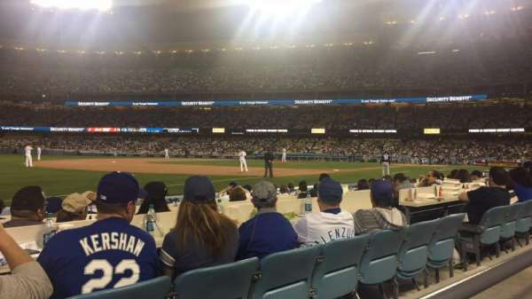 Dodger Stadium, secção: 37FD, fila: A, lugar: 8