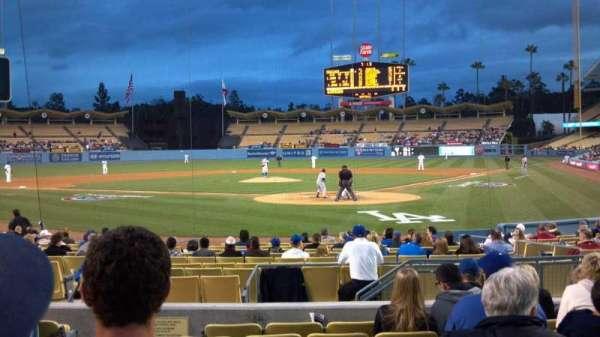 Dodger Stadium, secção: Field box mvp 3, fila: H, lugar: 8