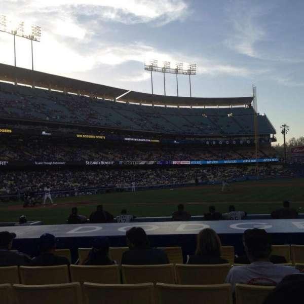 Dodger Stadium, secção: 20FD, fila: B, lugar: 1