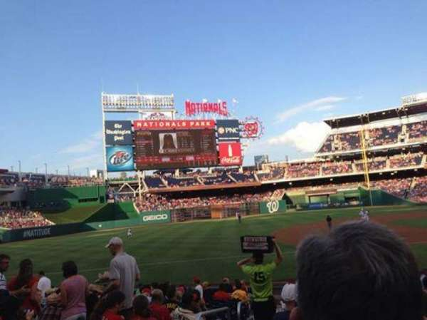 Nationals Park, secção: 115, fila: J, lugar: 16
