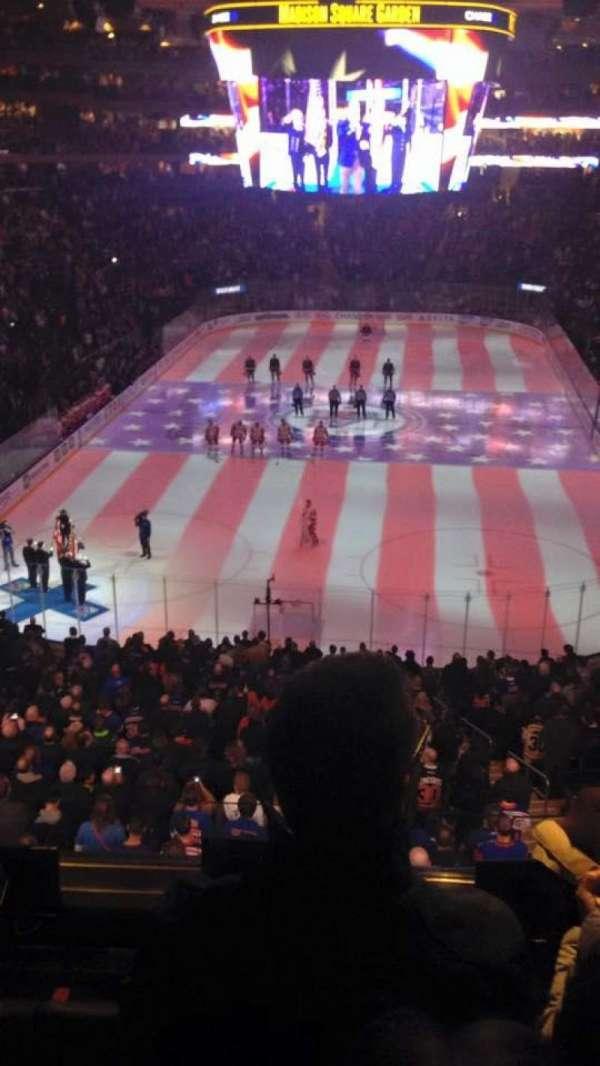 Madison Square Garden, secção: 218, fila: 5, lugar: 8