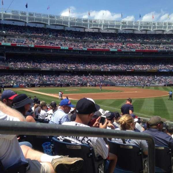 Yankee Stadium, secção: 110, fila: 19, lugar: 14