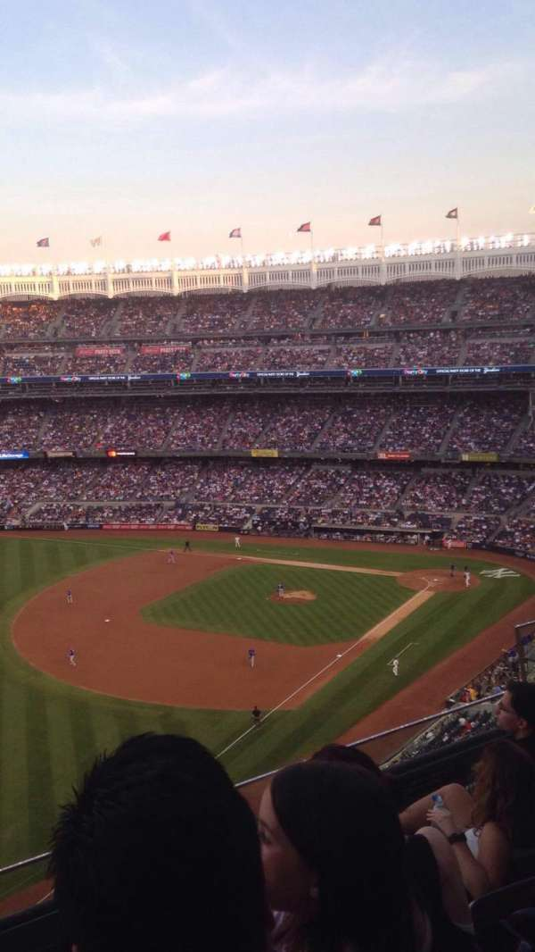 Yankee Stadium, secção: 431a, fila: 4, lugar: 4