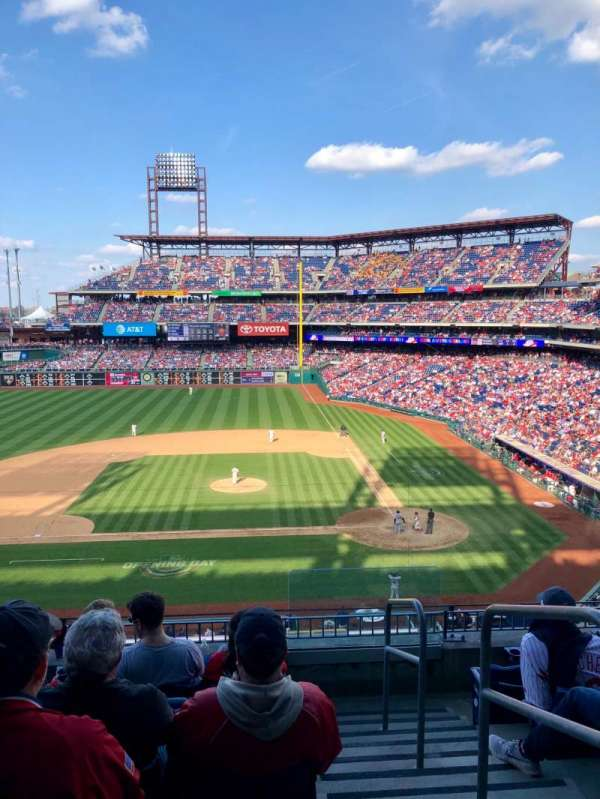 Citizens Bank Park, secção: 228, fila: 6, lugar: 1