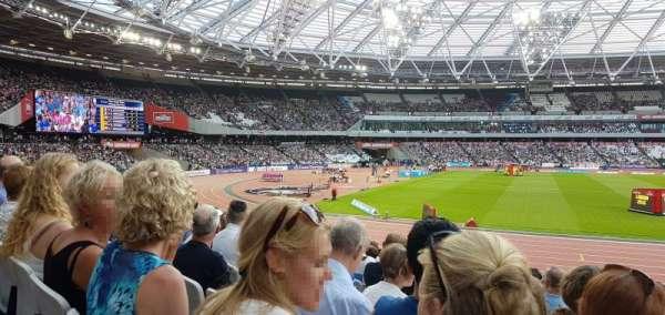 London Stadium, secção: 133, fila: 16, lugar: 341