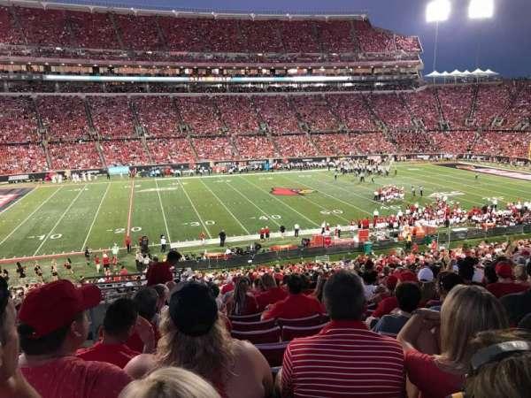Cardinal Stadium, secção: 232, fila: W, lugar: 122