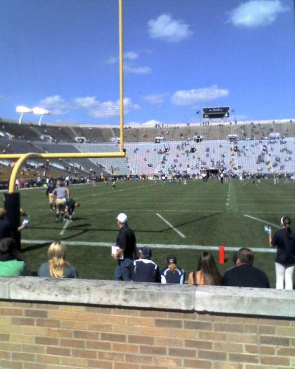 Notre Dame Stadium, secção: 18, fila: 7, lugar: 14