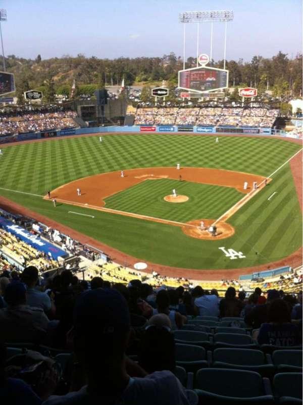 Dodger Stadium, secção: 5RS, fila: R, lugar: 12