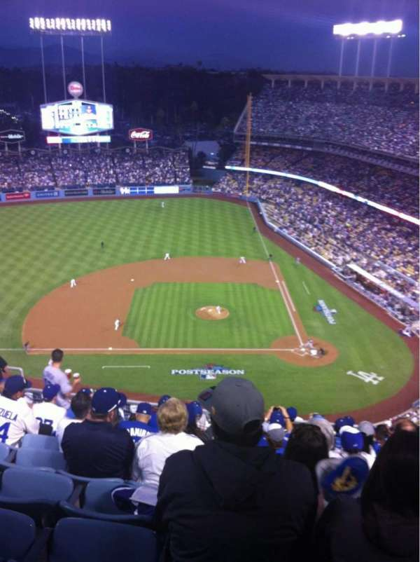 Dodger Stadium, secção: 13TD, fila: K, lugar: 12