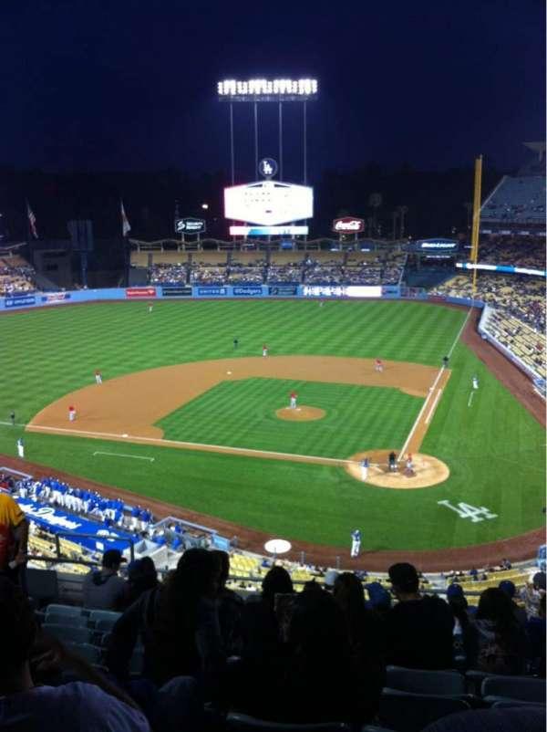 Dodger Stadium, secção: 7RS, fila: K, lugar: 15