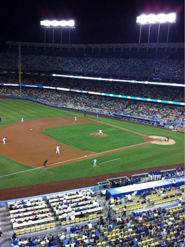 Dodger Stadium, secção: 27RS, fila: A, lugar: 19