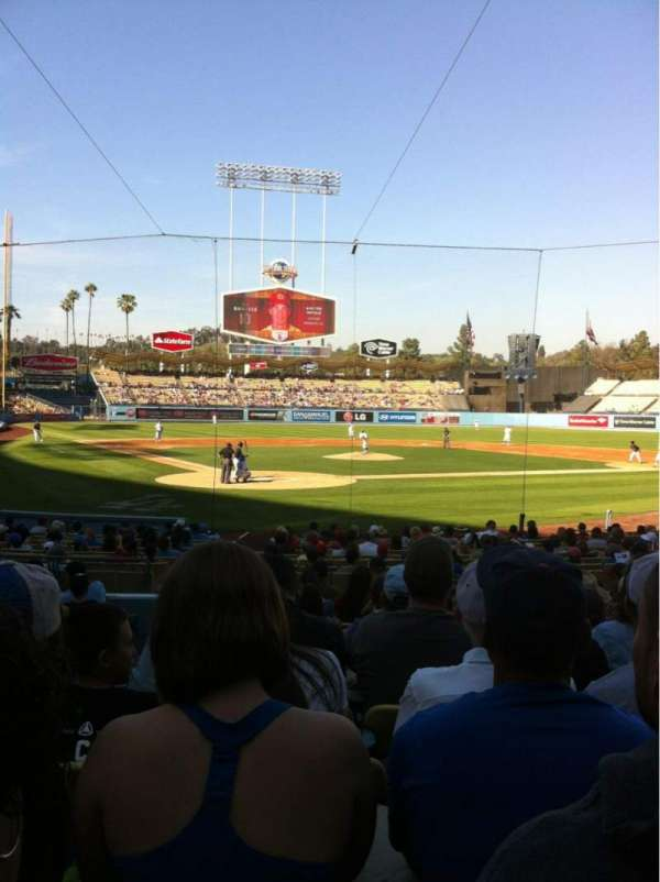 Dodger Stadium, secção: 6FD, fila: M, lugar: 2