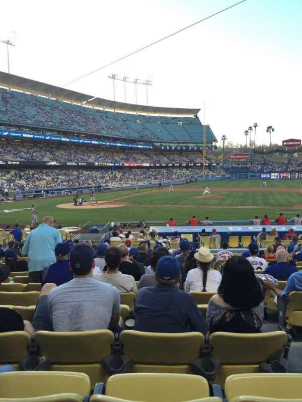 Dodger Stadium, secção: 16FD, fila: P, lugar: 7