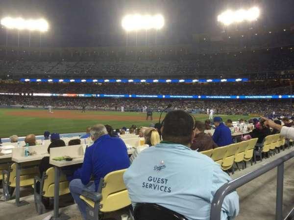Dodger Stadium, secção: 39FD, fila: A, lugar: 1
