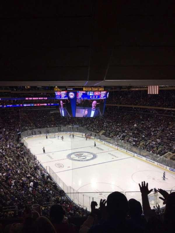 Madison Square Garden, secção: 414, fila: 4, lugar: 14