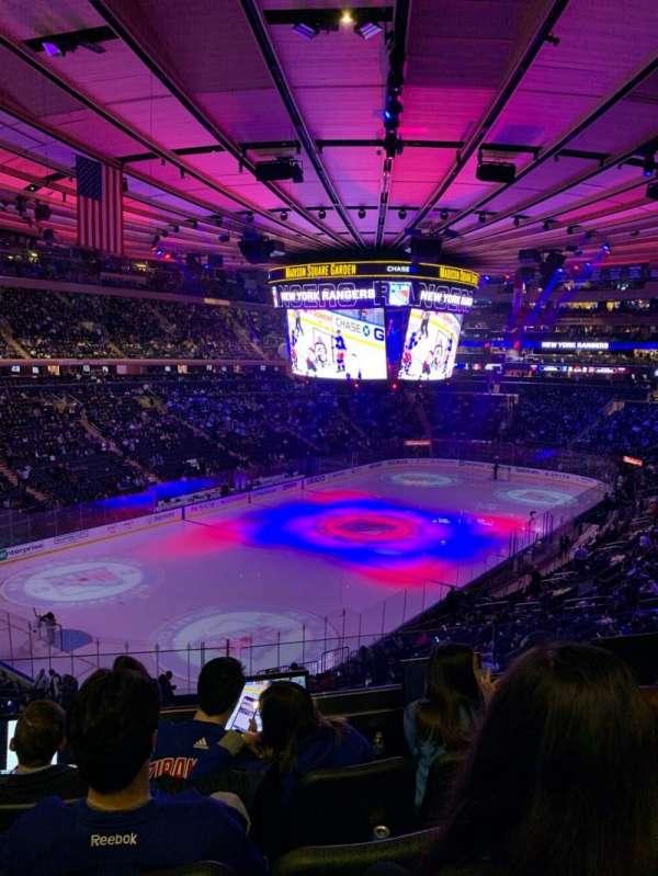 Madison Square Garden, secção: 220, fila: 4, lugar: 10
