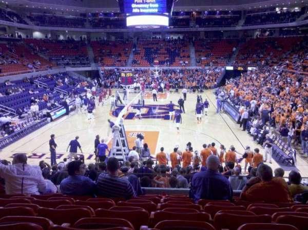 Auburn Arena, secção: 107, fila: 16, lugar: 6