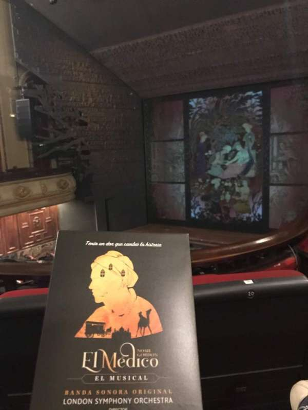 Teatro Nuevo Apolo, secção: Entresuelo, fila: 1, lugar: 22
