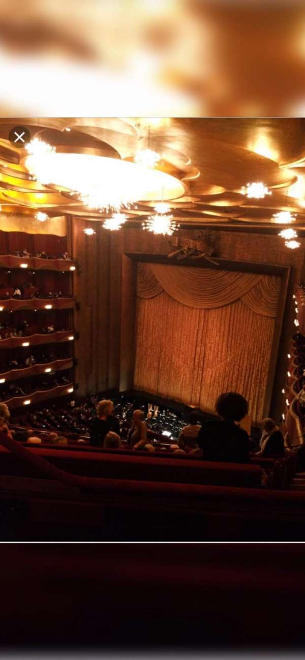 Metropolitan Opera House - Lincoln Center, secção: Balcony, fila: L, lugar: 5