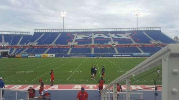 FAU Stadium, secção: 106, fila: F, lugar: 1