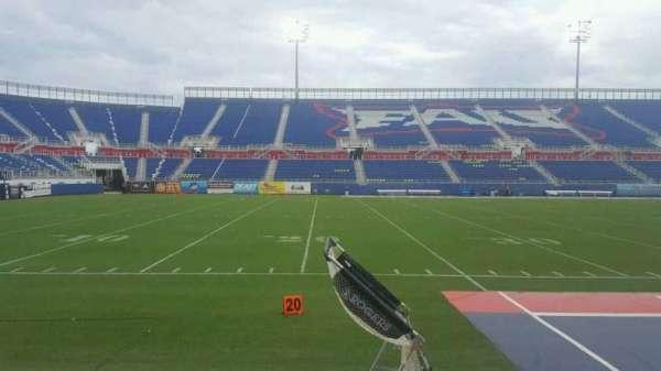 FAU Stadium, secção: 108, fila: B, lugar: 4