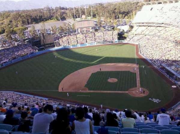Dodger Stadium, secção: 11TD, fila: K, lugar: 8