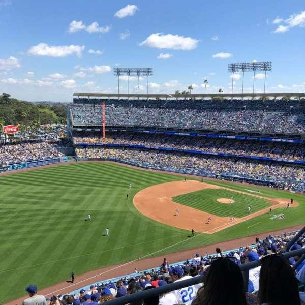 Dodger Stadium, secção: 41RS, fila: CC, lugar: 8