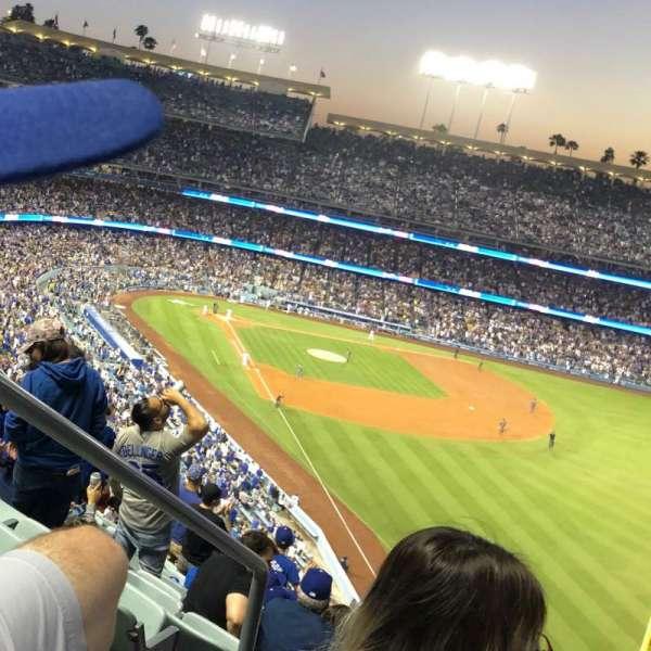 Dodger Stadium, secção: 56RS, fila: T, lugar: 2