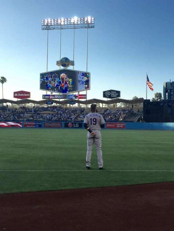 Dodger Stadium, secção: 32BL, fila: 1, lugar: 8