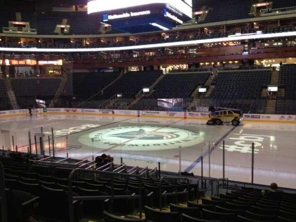 Nationwide Arena, secção: 102, fila: Q, lugar: 17
