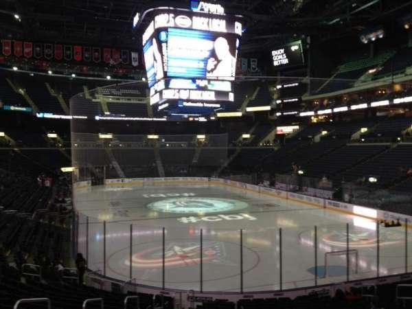 Nationwide Arena, secção: 110, fila: T, lugar: 15
